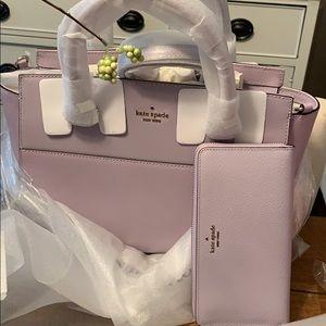 Gorgeous Kate Spade Lavender Mist Satchel & Wallet